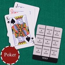 Nine Black Collage Custom Back Playing Cards