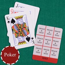 Nine Red Collage Custom Back Playing Cards
