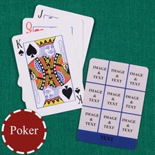 Nine Navy Collage Custom Back Playing cards