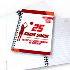 Personalized Basketball Player Notebook