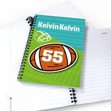 Personalized Athletic Notebook, Football