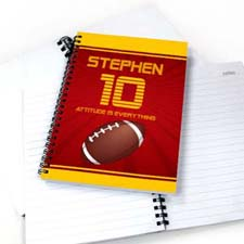 Personalized Sports Star Notebook, Football