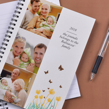 Three Collage Spring Flowers Photo Notebook