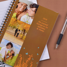 Three Collage Autumn Background Photo Notebook