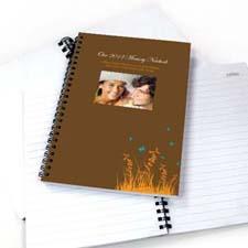 Autumn Background Photo Notebook