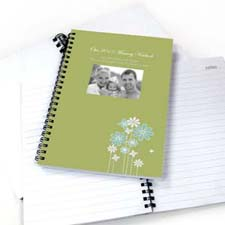 Modern Floral Photo Notebook