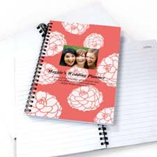 Vibrant Flowers Star Photo Notebook