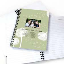 Dandelion Star Photo Notebook
