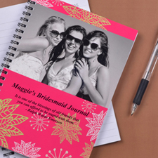 Floral Corner Photo Notebook