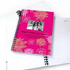 Floral Corner Star Photo Notebook