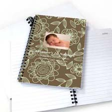 Field of Flowers Star Photo Notebook
