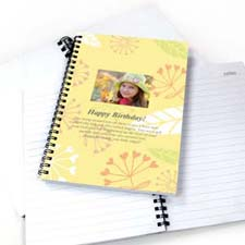Summer Floral Star Photo Notebook