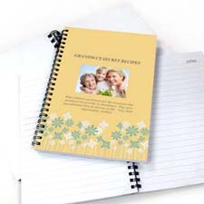 Floral Design Photo Notebook