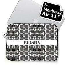 Custom Name Grey Links MacBook Air 11 Sleeve