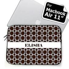 Custom Name Chocolate Links MacBook Air 11 Sleeve