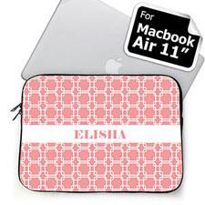 Custom Name Pink Links MacBook Air 11 Sleeve