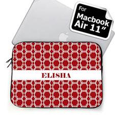 Custom Name Red Links MacBook Air 11 Sleeve