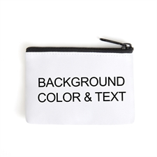 Background Color & Text Coin Purse – Different designs for front and back