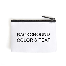 Background Color & Text Coin Purse - Same design for front and back
