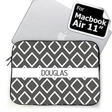 Custom Name Grey Lkat MacBook Air 11 Sleeve