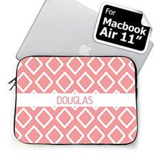 Custom Name Pink Lkat MacBook Air 11 Sleeve