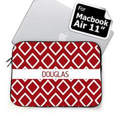 Custom Name Red Lkat MacBook Air 11 Sleeve