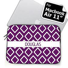 Custom Name Purple Lkat MacBook Air 11 Sleeve