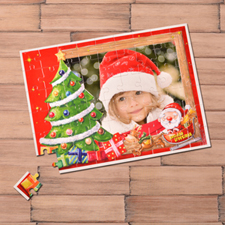 Custom Large Photo Jigsaw Puzzle, Christmas Tree