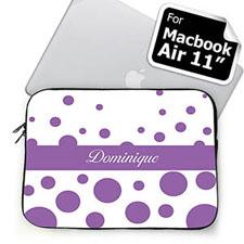 Custom Name Lavender Retro Circles MacBook Air 11 Sleeve