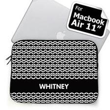 Custom Name Black Chain MacBook Air 11 Sleeve