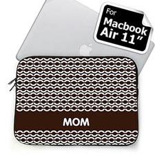 Custom Initials Chocolate Chain MacBook Air 11 Sleeve