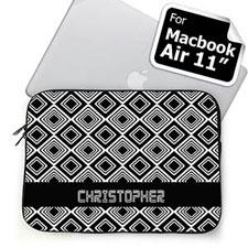 Custom Name Black Diamonds MacBook Air 11 Sleeve