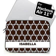 Custom Name Chocolate Hoopla MacBook Air 11 Sleeve