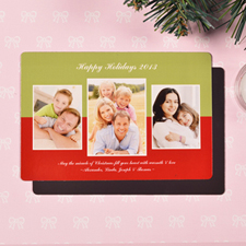 Create Merry Modern Collage Green Fridge Magnets