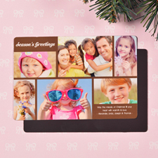Create 6 Photo Christmas Blessing  Chocolate Fridge Magnets