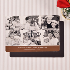 Create 6 Photo Very Merry  Chocolate Fridge Magnets