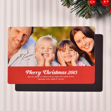 Create Merry Christmas  Red Fridge Magnets