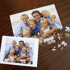 Custom Christmas Photo Jigsaw Puzzle, Horizontal