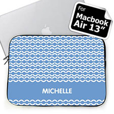 Custom Name Sky Blue Chain MacBook Air 13 Sleeve