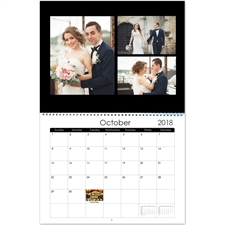 Personalized Black And White, Large Wall Calendar (14