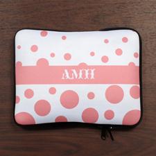 Custom Initials Pink Retro Circles iPad Sleeve