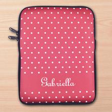 Custom Initials Red Polka Dots iPad Sleeve