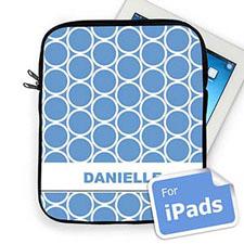 Custom Name Sky Blue  Hoopla iPad Sleeve