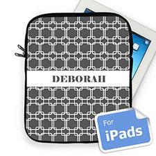 Custom Name Grey Links iPad Sleeve
