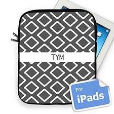 Custom Initials Grey  Lkat   iPad Sleeve