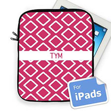 Custom Initials Hot Pink  Lkat   iPad Sleeve