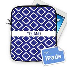 Custom Name Blue Lkat iPad Sleeve
