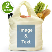 Customize 2 Sides Reusable Shopping Bag, Portrait Image
