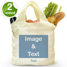 Custom 2 Sides Reusable Shopping Bag, Landscape Image