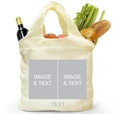 Personalized Both Sides 2 Collage Shopping Bag, Classic